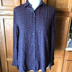 🇺🇸Beachlunchlounge Blue Hearts Button Up Top